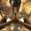 Young woman meditating — Stock Photo
