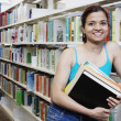 Stock Photo: Womin library