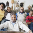 Portrait of family at home — Stock Photo