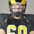 Stock Photo: Portrait of an American football player
