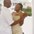 African American couple dancing — Stock Photo