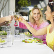 Friends toasting each other at a restaurant — Stock Photo