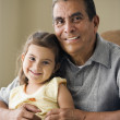 Portrait of grandfather with granddaughter — Stock Photo