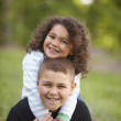 Stock Photo: Portrait of girl and boy