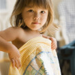 Portrait of girl with blanket — Stock Photo #23239076