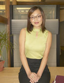 Portrait of businesswoman smiling — Stock Photo