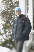 Teenage boy on a winter day — 图库照片