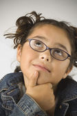 Young girl thinking — Stock Photo