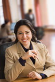 Businesswoman smiling for the camera — Stock Photo