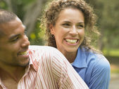 Close up of couple laughing — Stock Photo