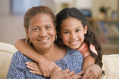 Mother and daughter hugging — Foto Stock