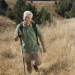 Senior man hiking — Stock Photo