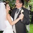 Bride dancing with her father - Stock Photo
