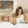 Hispanic couple in bed  — Foto Stock