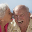 Close up of senior couple laughing — Stock Photo