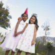 Young Indian girls at a birthday party — Stock Photo