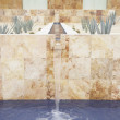 Fountain at resort hotel - Stock Photo