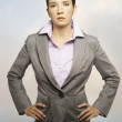 Businesswoman posing for the camera - Stock Photo