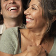 Young couple hugging - Foto Stock