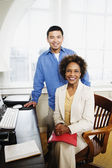 Portrait of two business — Stock Photo