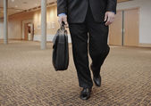 Businessman carrying a briefcase — Stock Photo