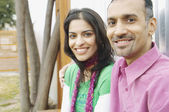 Couple smiling for the camera — Stock Photo