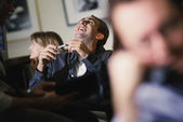 Co-workers laughing — Stock Photo