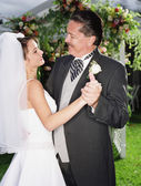 Bride dancing with her father — Foto de Stock