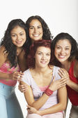 Young women smiling for the camera — Stock Photo