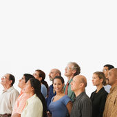 Group of adults standing together — Stock Photo