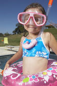 Tüplü dişli genç kız — Stok fotoğraf