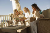 Female members of a family spending time together — Stock Photo