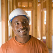 Royalty-Free Stock Photo: African male construction worker inside construction site