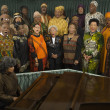 Group of middle-aged African singing — Stockfoto