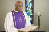 Senior African in church choir gown — Стоковое фото