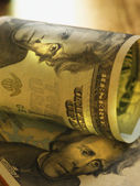 Close up of US Dollars — Stock Photo