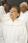 Senior African women singing in a choir — Foto de Stock