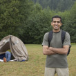 Stock Photo: Portrait of Indimat campsite
