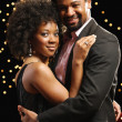 Portrait of African couple dancing — Stock Photo