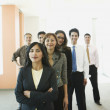 Royalty-Free Stock Photo: Portrait of multi-ethnic businesspeople in office