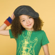 Portrait of young girl wearing hat — Stock Photo #23271736