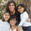 Multi-generational Hispanic female family members — Stock Photo