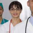 Stock Photo: Portrait of multi-ethnic doctors