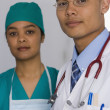 Portrait of multi-ethnic doctors — Stock Photo