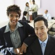 Multi-ethic businesspeople in conference room — Stock Photo