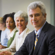 Multi-ethnic businesspeople at meeting — Stock Photo