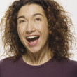 Mixed Race woman laughing — Stock Photo