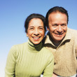 Close up of Hispanic couple outdoors — Stock Photo