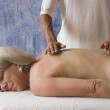 Senior woman getting massage — Stock Photo