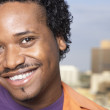 Close up of African man smiling — Stock Photo